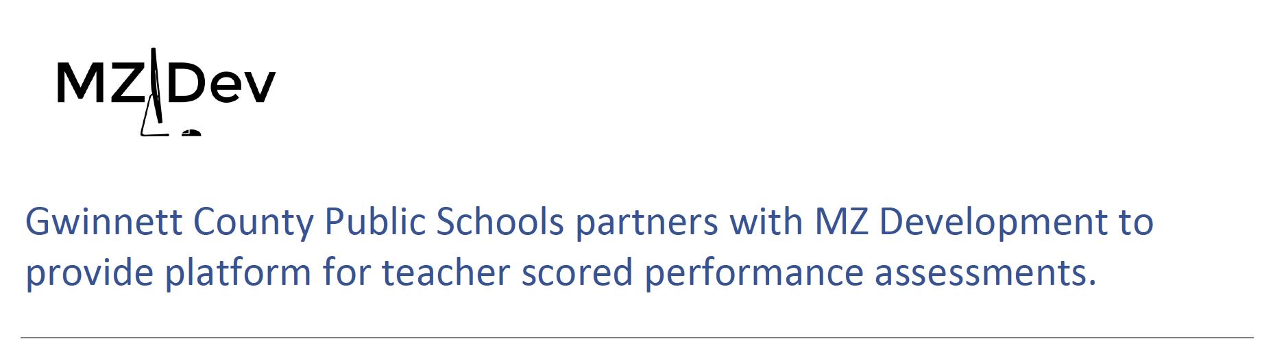 MZ Development & Gwinnett County Public Schools Press Release - MZDev